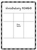 Vocabulary Bingo boards 3x3 and 5x5