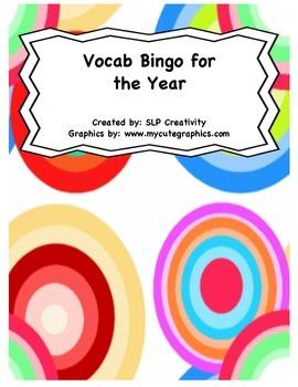 Vocabulary Bingo for the Year