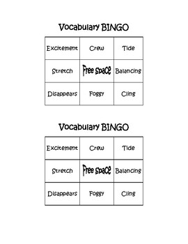 Vocabulary Bingo_Pop's Bridge