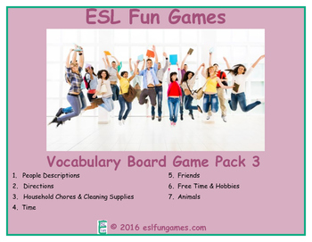 Vocabulary Board Game Pack 3 Game Bundle