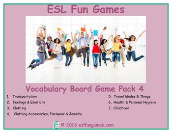 Vocabulary Board Game Pack 4 Game Bundle