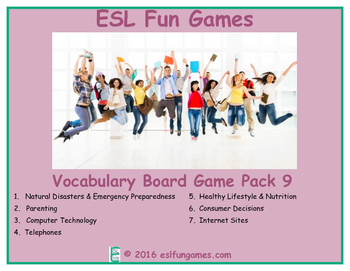 Vocabulary Board Game Pack 9 Game Bundle