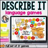 Language Board Games - Describe it | BOOM CARDS™
