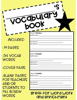 Vocabulary Book: Advanced Words