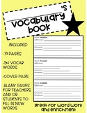 Vocabulary Book: Advanced Words