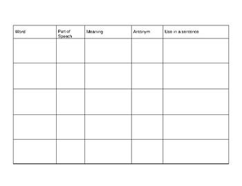 Vocabulary Book English Language Learners Grades 2-5