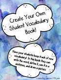 Vocabulary Book: Make Your Own!