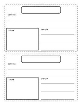 Vocabulary Book Pages