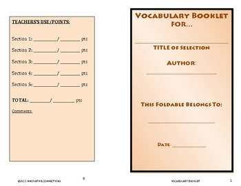 Vocabulary Booklet: For Stories of Mystery and Suspense