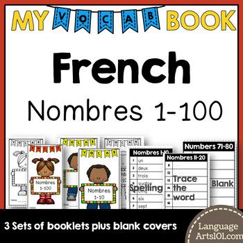 Vocabulary Booklet Numbers 1-100 French | Cahier de vocab Les Nombres 1-100