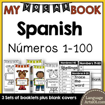 Vocabulary Booklet Numbers 1-100 Spanish | Vocabulario Números 1-100 Español