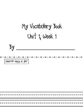 Vocabulary Booklets Unit 1