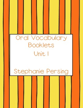 Vocabulary Booklets Unit 1