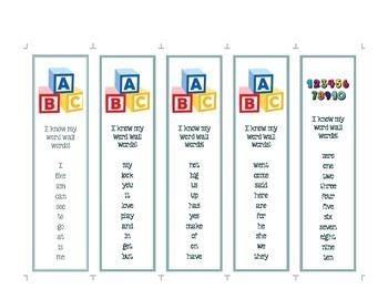 Vocabulary Bookmark 1