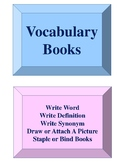 Vocabulary Books Activity