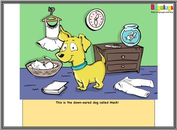 Vocabulary Booster Interactive Storybook 'Mack the Down-Eared Dog'