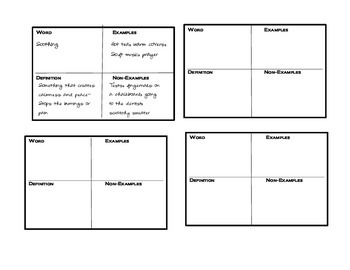 Vocabulary Boxes