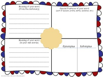 Vocabulary Boxes- Help Build Your Student's Knowledge of New Words