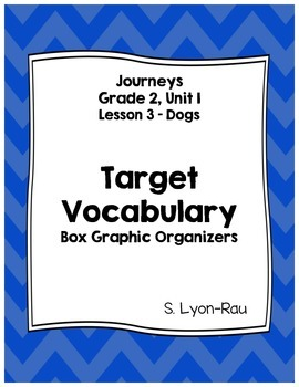 Vocabulary Boxes - Journeys, Grade 2, Lesson 3 - Dogs