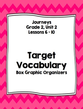 Vocabulary Boxes - Journeys, Grade 2, Unit 2 - BUNDLE