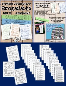Academic Vocabulary Bracelets Critical Tier 2