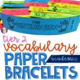 Academic Vocabulary Bracelets Critical Tier 2
