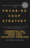 Vocabulary Buidling Strategy