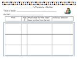 Vocabulary Builder-Common Core