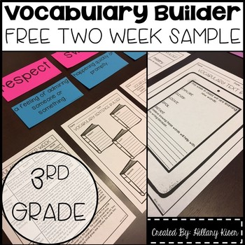 Vocabulary Builder (3rd Grade Free Sample)