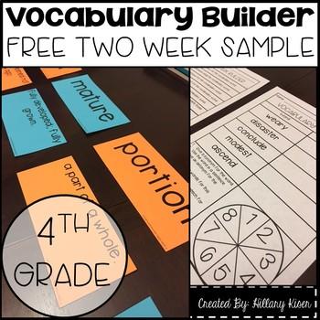 Vocabulary Builder (4th Grade Free Sample)