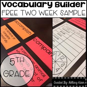 Vocabulary Builder (5th Grade Free Sample)