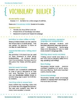 Vocabulary Builder Book 1