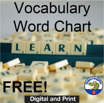FREE Vocabulary Builder Chart