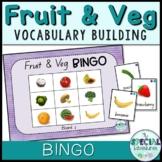 Vocabulary Builder- Fruit & Vegetable Games - BINGO