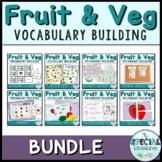 Vocabulary Builder- Fruit & Vegetable Games BUNDLE