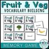 Vocabulary Builder- Fruit & Vegetable Games- Memory