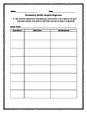 Vocabulary Builder Graphic Organizer