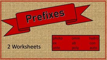 Vocabulary Builder: Prefixes