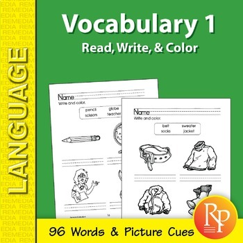 Vocabulary Builder: Read, Write, & Color 1