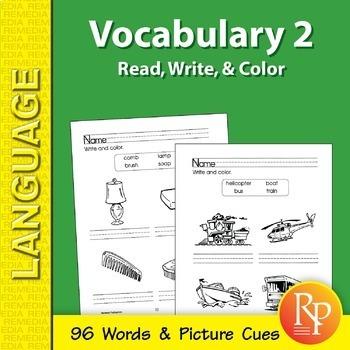 Vocabulary Builder: Read, Write, & Color 2