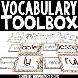 Vocabulary Activities -prefixes/suffixes, homophones, context clues, & more