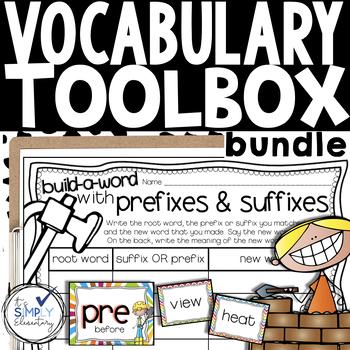 Vocabulary Activities -prefixes/suffixes, homophones, context clues, & more