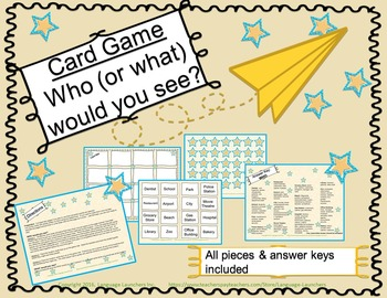 Vocabulary Builder:  Who or What Would You See