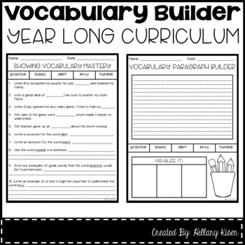 Vocabulary Builder (Year Long Curriculum-4th Grade)