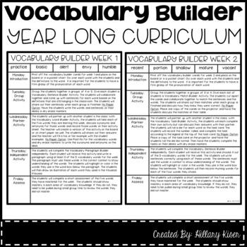 Vocabulary Builder (Year Long Curriculum-4th Grade)