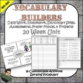 5th Grade Word Work and Vocabulary Activities, Tests, Frayer Model No Prep