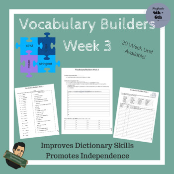 Vocabulary Builders Skills Week 3 (Tests Included)