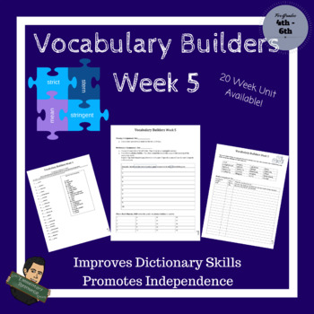 Vocabulary Builders Skills Week 5 (Tests Included)