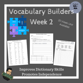Vocabulary Builders Skills Week 2 (Tests Included)