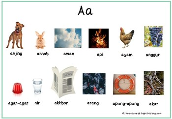 Vocabulary Builders Malay Language (Bahasa Melayu): Letter A (Huruf A)